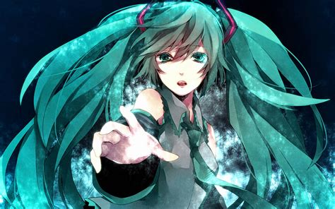 Kaos Vocaloid Hatsune Miku hatsune miku wallpapers wallpaper cave