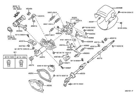 Toyota Steering Column Toyota Camrysxv20r Aepnkw Powertrain Chassis Steering