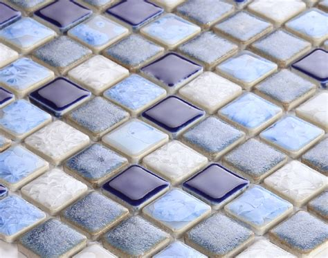copper glass and porcelain square mosaic tile designs blue porcelain square mosaic tiles design glazed ceramic
