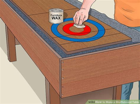 how to build a shuffleboard table how to a shuffleboard table with pictures wikihow