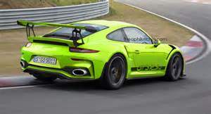 Porsche Gt3rs Facelifted Porsche 911 Gt3 Rs Imagined With 4 2 Liter Engine