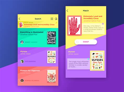 app design quote book swap app by ludmila shevchenko dribbble