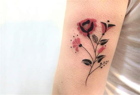 single flower tattoo designs single flower tattoos flowers ideas for review