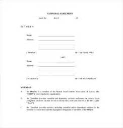 child custody template 10 custody agreement templates free sle exle