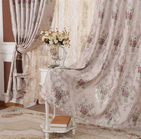 rustic living room curtains fancy modern design bronize printed floral rustic blackout