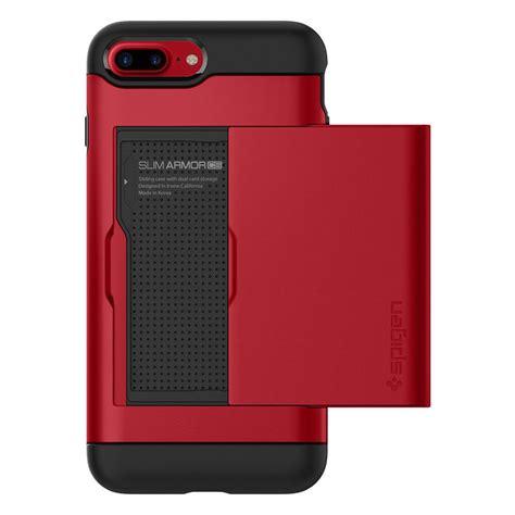 Iphone 7 Plus Spigen Slim Armor Cover Casing Stand Bumper Keren spigen 174 slim armor cs 043cs21730 iphone 8 plus 7 plus spaceboy