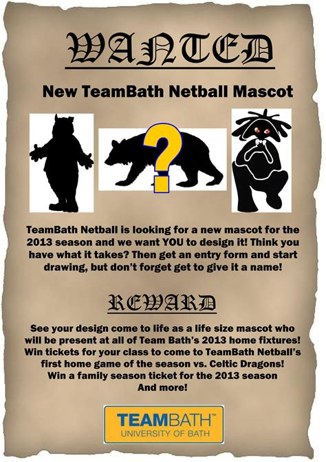 design competition names team bath netball mascot design competition team bath
