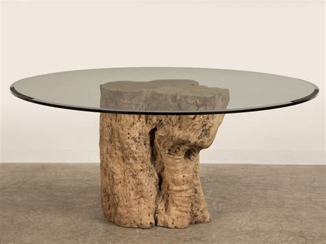 Tree Stump Coffee Table Coffee Table Made From Tree Stump With Modern Beveled Glass On Top Design Popular Home