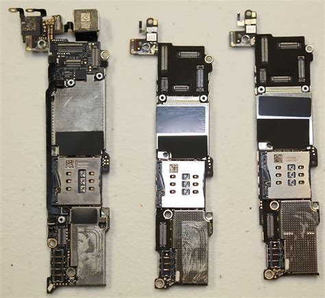 iphone board layout first iphone 5s and iphone 5c teardowns show touch id home