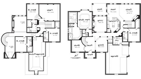 2 Story Garage Plans With Apartments by Beautiful 2 Story Plus Basement House Plan 4 Bedroom 25 2