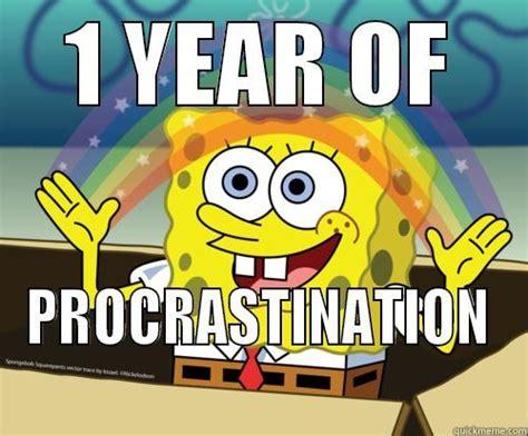 Spongebob Rainbow Meme - spongebob procrastination memes