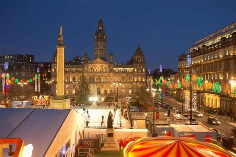 when are glasgow s christmas light being turned on where
