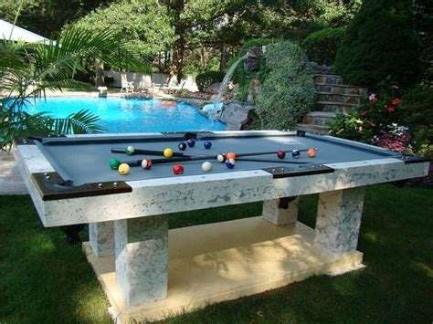 outdoor concrete pool table concrete pool table favorite pool tables