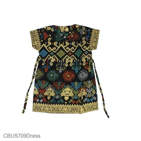 Dress Batik Anak dress anak batik sarimbit family motif songket dress