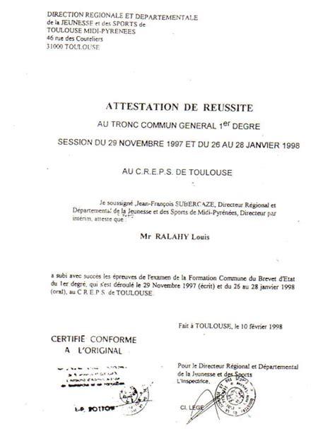 Exemple De Lettre De Démission Club Sportif Les Dipl 244 Mes Sbci