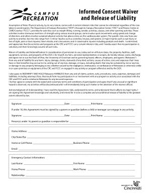 Bill Of Sale Form Colorado Assumption Of Risk Waiver And Release Of Liability Templates Risk Waiver Form Template