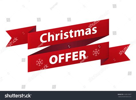 christmas special offers special offer ribbon banner icon isolated on white background vector illustration
