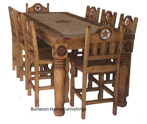 Western Style Dining Room Sets by Rectangle Rustic Dining Table With Marble Inlay Real Wood
