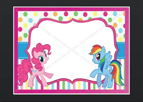 my little pony blank invitation birthday thank by