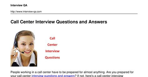 call center questions and answers pdf docdroid
