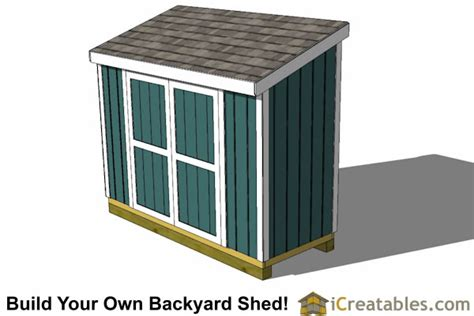 4 X 10 Shed Plans by 4x10 Lean To Shed Plans Outdoor Garden Shed Small Shed