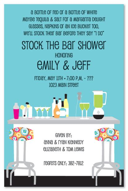 stock the bar party invitations template best template