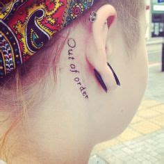 tattoo behind deaf ear tattoo related to the experience of hearing loss deaf