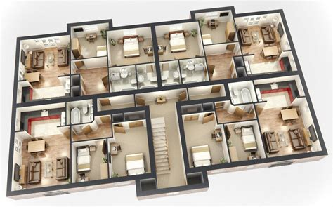 big house floor plans 3d floor plan of a mansion modern house