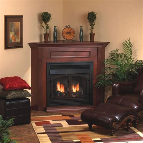 direct vent corner gas fireplace empire tahoe 36 quot direct vent premium millivolt corner gas fireplace with blower and liner