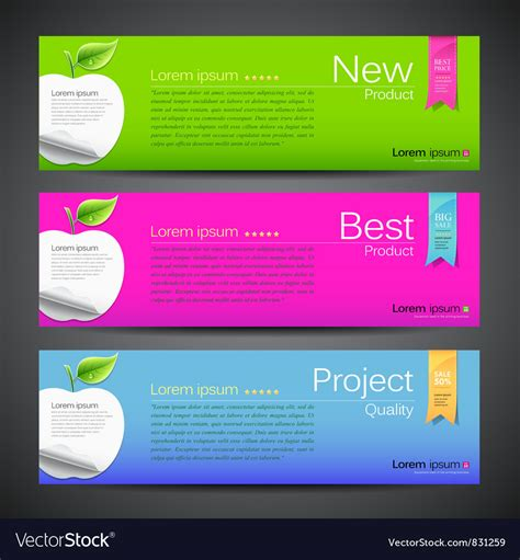 design banner on mac banner design apple vector art download presentation