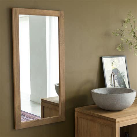 Miroir En Teck Bahya Duo Vente Miroirs 100x50 Chez Tikamoon