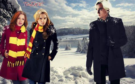 hermione granger ginny weasley draco malfoy hermione granger and ginny weasley by