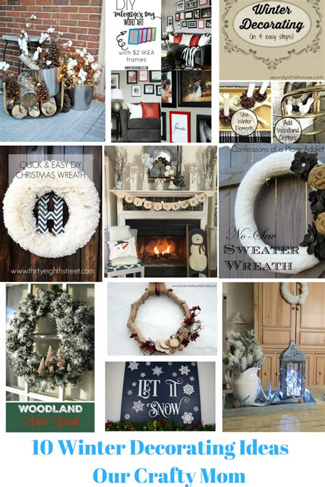 10 winter home decorating ideas 10 easy winter decorating ideas our crafty mom