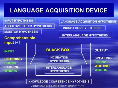 Language Acquisition Device Second Language Acquisition