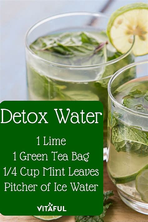 Detox Drink Ingredients by Green Tea Detox Water Recipe For Weight Loss Detox