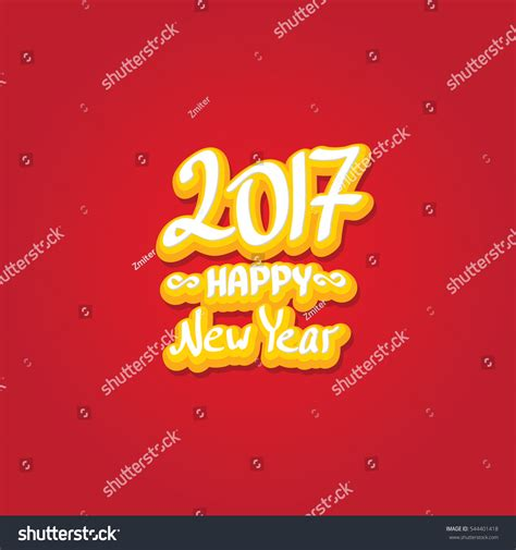 creative happy new year texts 2017 happy new year creative design stock vector 544401418