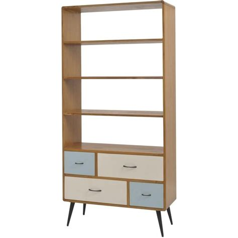 buy libra multicoloured retro style bookcase from fusion