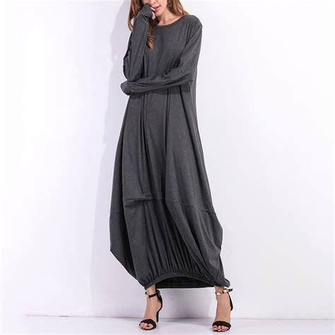 Longdress Kaftan Anesa 2017 winter sleeve casual plain maxi dress