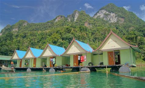 lakehouse bungalow welcome in khao sok smiley bungalow thailand