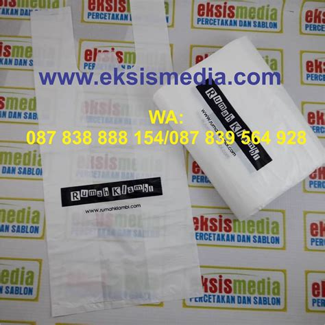 Harga Plastik Kresek by Kantong Plastik Murah Di Parepare Cetak Sablon Murah