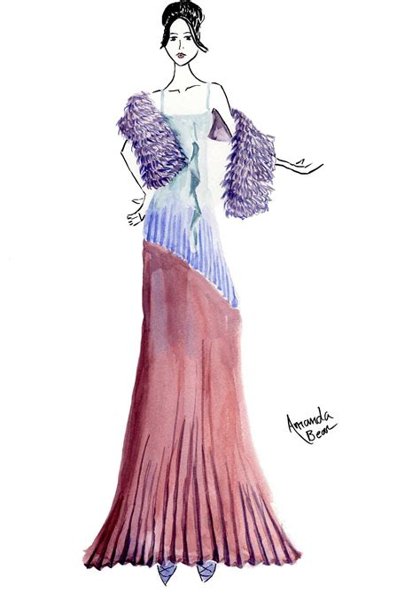 fashion illustration of dresses print photos view size image