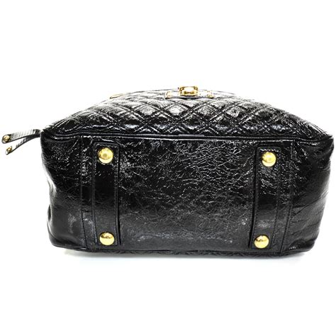 Marc Quilted Goatskin Bowler by Marc Patent Quilted Ursula Bowler Black 22758
