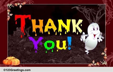 Halloween Thank You Cards, Free Halloween Thank You Wishes