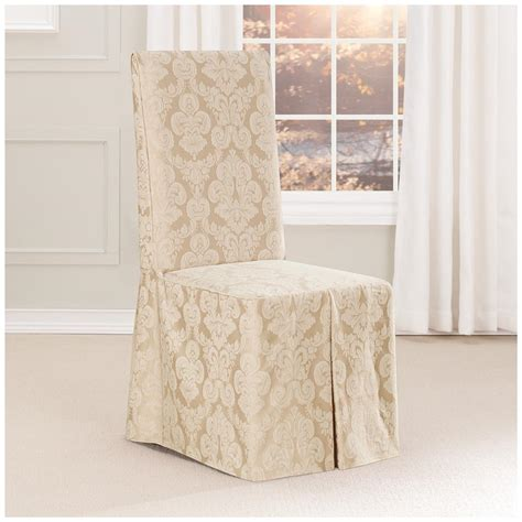 long dining chair slipcovers sure fit 174 middleton long dining room chair slipcover