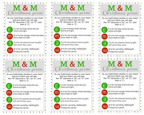 m amp m christmas poem u create