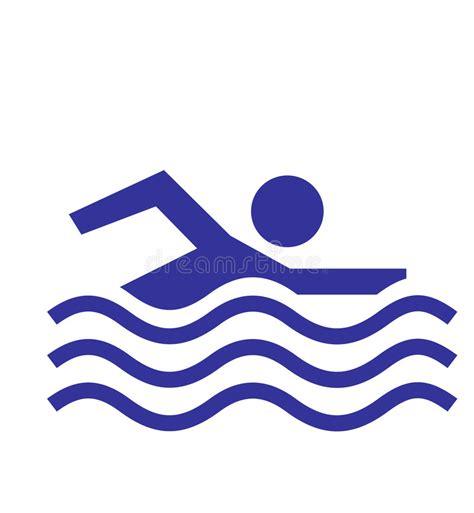 icona permessa di nuoto illustrazione di stock