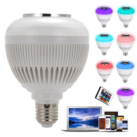 Bluetooth Led Light Bulb 2016 New 6w E27 Wireless Bluetooth Led Bulb Audio Speaker Rgbw Light L 24