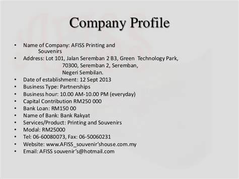 company profile design price in malaysia printing and souvenirs presentation group
