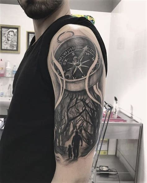 quarter sleeve compass tattoo compass tattoo meanings nautical designs ideas 2018