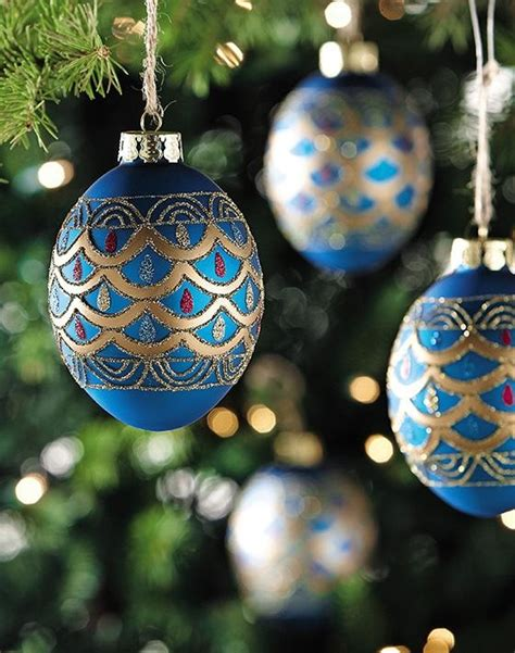 saphire egg ornaments christmas pinterest